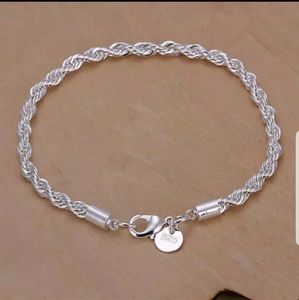 Jewelry - 💥🦋NWOT Sterling silver twisted chain bracelet